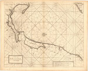 A Chart of  PRUSSIA  and Coerland from Rygshead  to Der Winda.